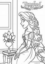 Rapunzel Tangled Coloring Pages Disney Printable Cool2bkids Colouring Princess Sheets Printables Stuff Entitlementtrap sketch template