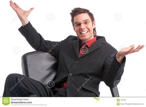 Successful Deal Happy Person Powerful Manager Stock Photo