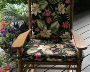 indoor outdoor black pink green tropical rocking chair 2
