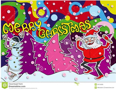 merry christmas crazy card royalty  stock images