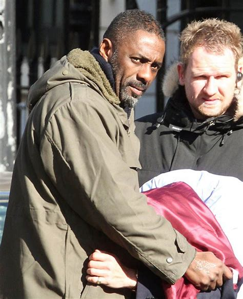 Idris Elba filming a new series of Luther in London Mar 3 ...