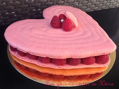 grand macaron coeur pour la valentin les gourmandises de n 233 mo