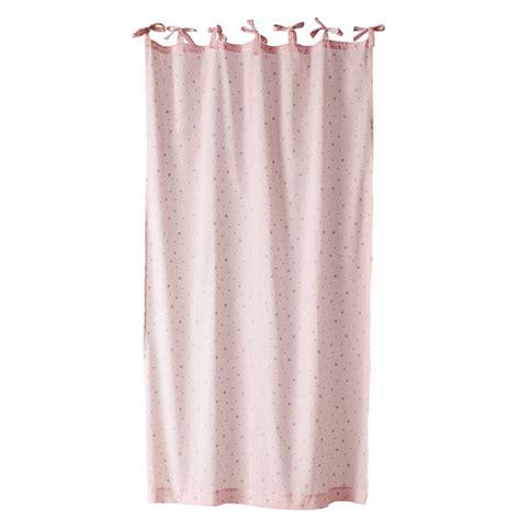 modele rideau chambre rideau à nouettes en coton 102 x 250 cm étoile
