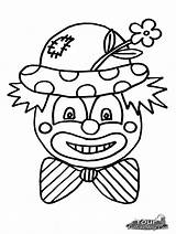 Clown Coloring Scary Clowns Faces Pennywise Cartoon Drawing Template Printable Colouring Cliparts Sheets Halloween Sketch Clipart Getdrawings Frog Outline Cartoons sketch template
