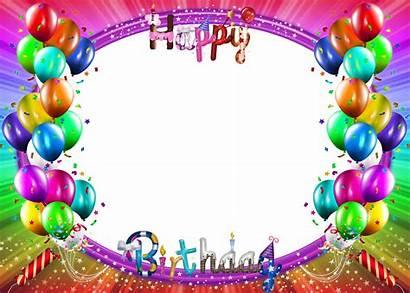 Birthday Happy Frames Frame Colorful Background Transparent