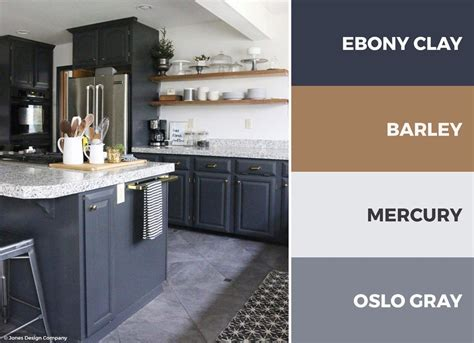 gray  white kitchen color scheme adds openness  depth   kitchen read