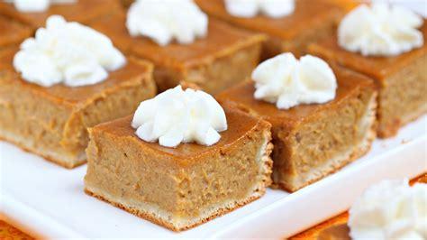 best desserts to make pumpkin pie bars