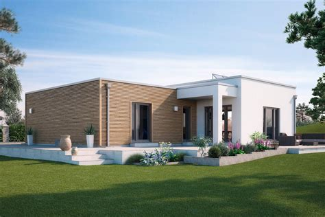 bungalow mit flachdach fertighaus winkelbungalow mit flachdach calvados gussek haus