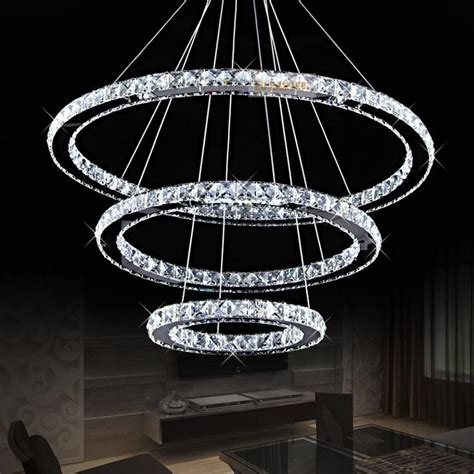 modern chandeliers for high ceilings modern ring contemporary chandelier lustre cristal