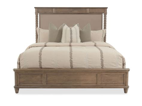low profile transitional panel bed in dark cinnamon