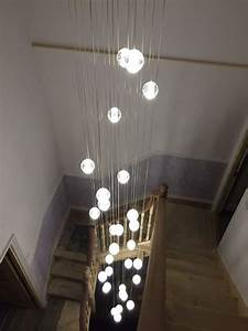 Air, Bubble, Long, Stairwell, Chandelier