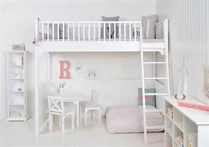 Hochbett Kinder Weiß : hochbett von oliver furniture in 90 x 200 cm incl lattenrost wei ~ Whattoseeinmadrid.com Haus und Dekorationen