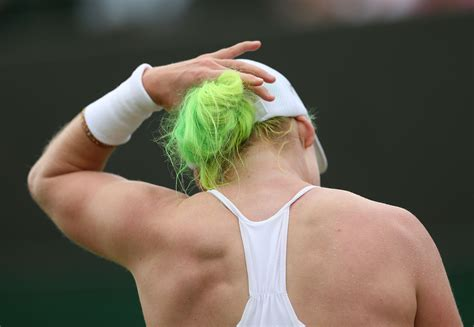 Green And Yellow Hair Somehow Didn't Run Foul Of Wimbledon
