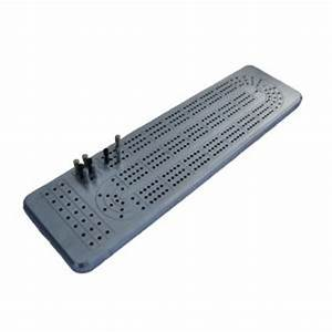 cnc machined solid aluminum cribbage board With cribbage board templates metal
