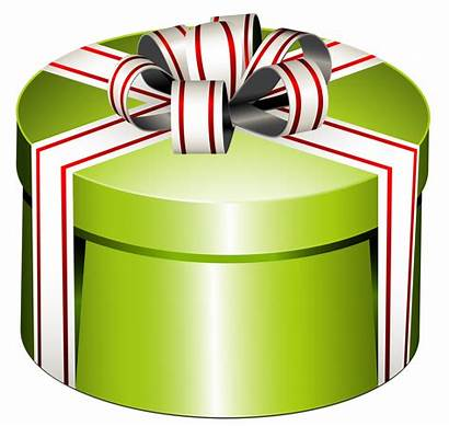 Clipart Christmas Present Gift Box Round Bow