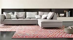 canape d39angle en tissu cuir design contemporain cote With les plus beaux canapes cuir