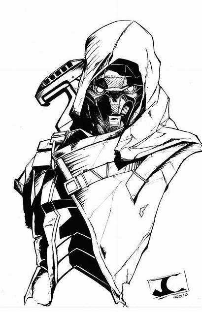 Destiny Exo Stranger Sketches Character Hunter Fan