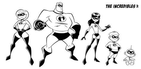 printable incredibles  coloring pages