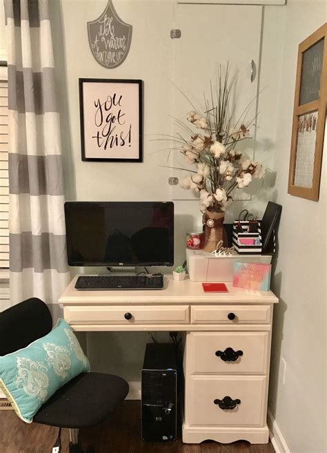 cute  office space small cute happy college desk