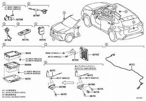 Toyota Highlander Wire  Mirror Camera  Electrical  Rear