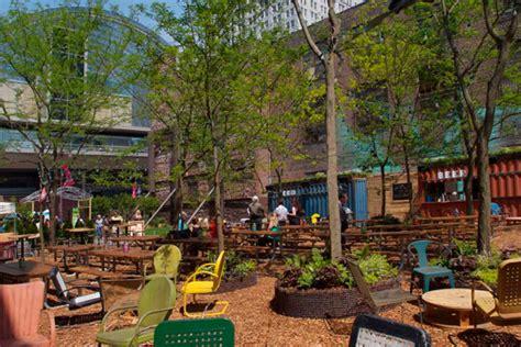 pop up garden pop top partnership transforms vacant lot into pop up