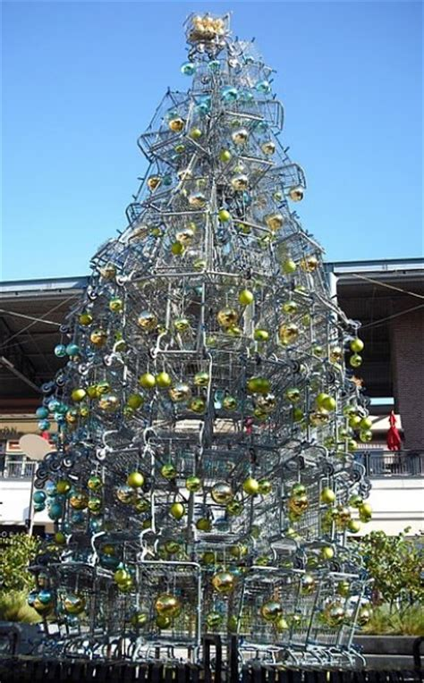 shopping cart christmas tree try an eco friendly christmas tree insteading 1406