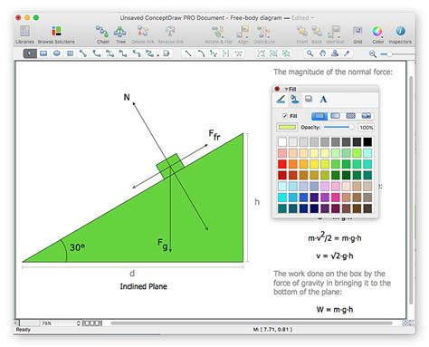 drawing physics illustrations conceptdraw helpdesk