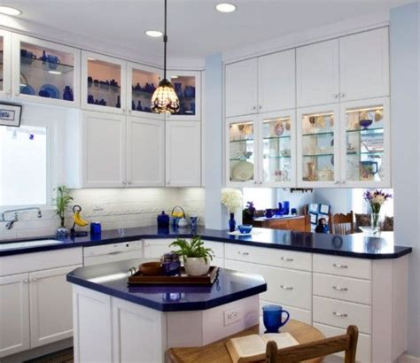 blue cabinets white countertops blue kitchen countertops on pinterest blue granite blue 328 | 199f2a49016506fbdc589cbdb198b880