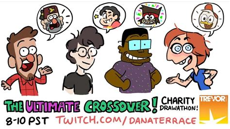 ultimate crossover charity drawathon youtube
