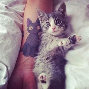 Les 25 meilleures idées de la catégorie Tatouage de chaton ...