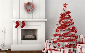 Red and White Christmas Home Decoration Ideas, Christmas