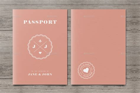 printable  passport templates psd illustrator designs