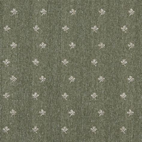 Country Upholstery Fabric by Green And Beige Mini Flowers Country Upholstery Fabric By