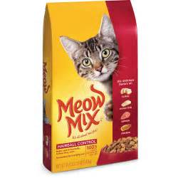 meow mix hairball cat food 3 15 pound