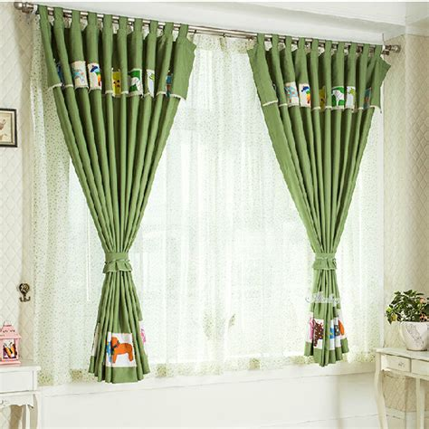 affordable green thermal nursery curtains