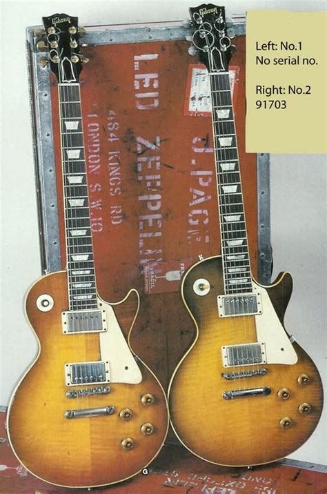 jimmy page s quot 59 les paul no 1 on the left and his quot 59