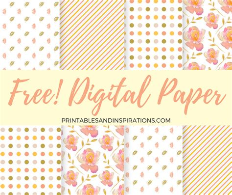 Free Digital Paper For Scrapbooking And More Projects