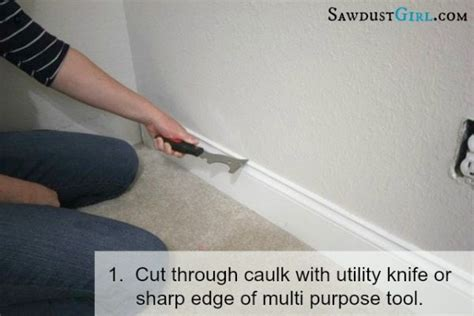tools needed to remove baseboards removing baseboard without damage sawdust girl 174