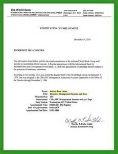 Employment Income Verification Letter