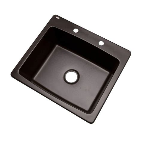 drop in kitchen sinks single bowl mont blanc northbrook drop in composite granite 25 in 2 9622