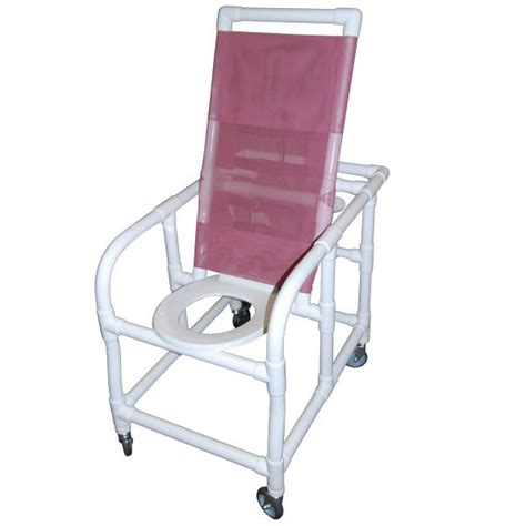 reclining pvc commode shower chair 20