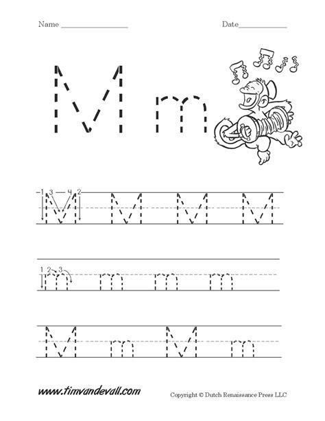 letter m worksheet tim de vall 811 | Letter M Worksheet Printable