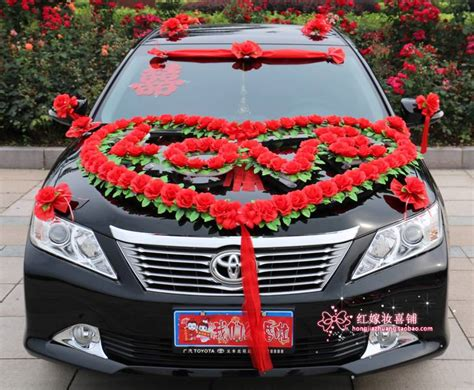 Car Decorations - festooned vehicle wedding car decoration suits car