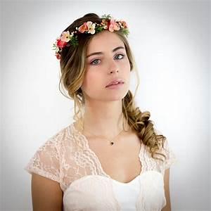 Couronne Fleur Cheveux Mariage : couronne a fleur cheveux photo de coiffure bio ~ Melissatoandfro.com Idées de Décoration
