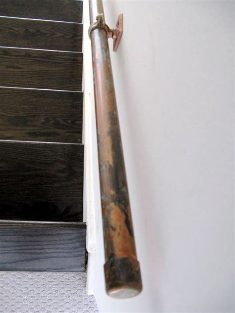plumbing pipe handrail 17 best images about banister on wood handrail 1556