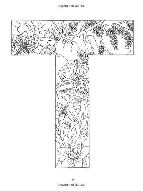 floral alphabet coloring alphabet coloring pages coloring letters  coloring pages