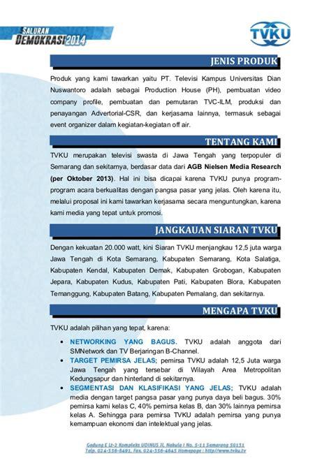 proposal penawaran kerjasama tv