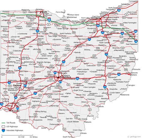 Map of Ohio Cities - Ohio Road Map
