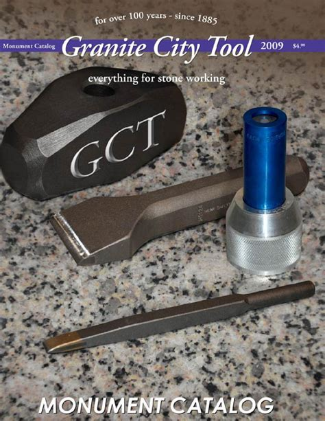 granite city tool monument catalog 2009 by granite city
