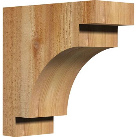 Exterior Wood Corbels by Ekena Millwork Cormed00 Mediterranean Rustic Timber Wood